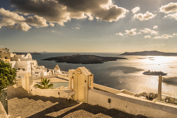 Majestic Fira Canvas print by Naylor's Photography