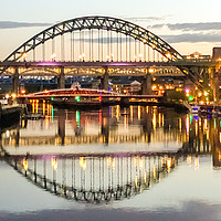 Buy canvas prints of Evening at Newcastle Quayside III by Naylor's Photography