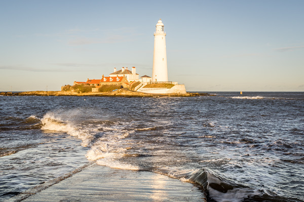 A Winters Day at the lighthouse Canvas print by Naylor's Photography