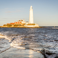 Buy canvas prints of A Winters Day at the lighthouse by Naylor's Photography