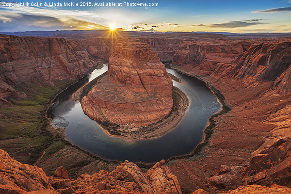 Horseshoe Bend, Sunset Canvas print by Colin & Linda McKie