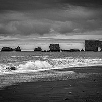 Buy canvas prints of Reynisfjara Beach, South Iceland by Colin & Linda McKie
