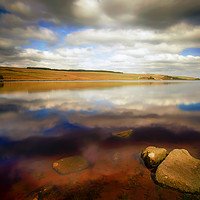 Buy canvas prints of Withens Clough Reservoir...Reflections by Robin Cunningham