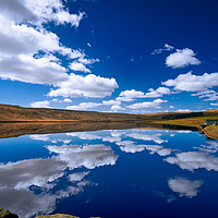 Buy canvas prints of Withens Clough Reservoir...Doubletake by Robin Cunningham