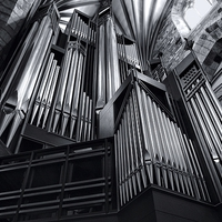 Buy canvas prints of  Organ Pipes at St Giles Cathedral Edinburgh by Ann McGrath