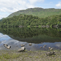 Buy canvas prints of Loch Lubhair, near Crianlarich, Scotland by David Rankin