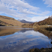 Buy canvas prints of Loch Lubhair, Scotland by David Rankin