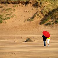 Buy canvas prints of Red Umbrella by Stephen Hamer