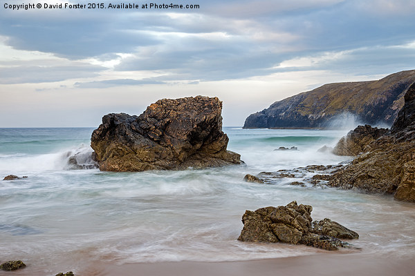 Sango Bay Durness North Coast of Scotland  Framed Mounted Print by David Forster