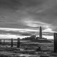 Buy canvas prints of  St Mary`s Lighthouse by Phil Reay