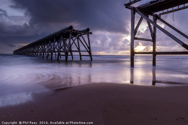 Steetley pier Framed Mounted Print by Phil Reay