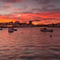 Buy canvas prints of Sunset on the Wear by Phil Reay