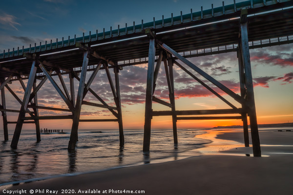 Sunrise at Steetley Pier Framed Mounted Print by Phil Reay