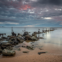 Buy canvas prints of Sunrise at Sugar Sands, Northumberland by Phil Reay