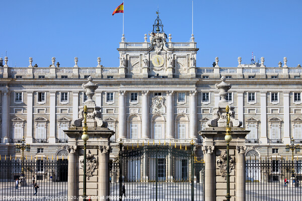 Royal Palace in Madrid Print by Artur Bogacki