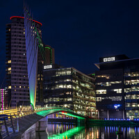 Buy canvas prints of A Media City Salford Quays by Daryl Peter Hutchinson