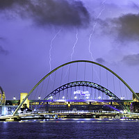Buy canvas prints of Newcastle Lightning by Alan Wallace