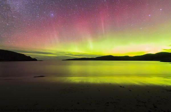 Aurora Borealis Northern Lights Scotland Canvas print by Stephen Beardon