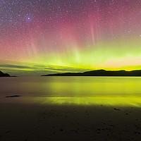 Buy canvas prints of Aurora Borealis Northern Lights Scotland by Stephen Beardon