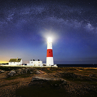 Buy canvas prints of  Portland Bill Milky way  by daniel allen