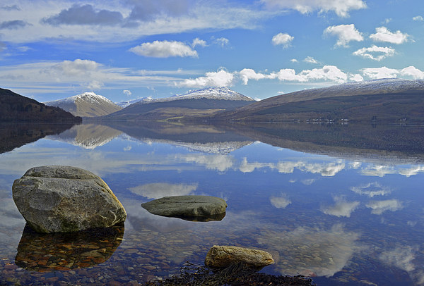 Winter reflections on Loch Fyne Canvas print by Richard Hunt-Smith