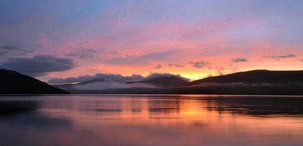 Sunrise on Loch Fyne Canvas print by Richard Hunt-Smith