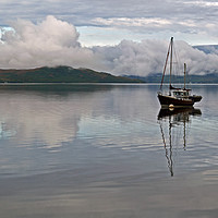 Buy canvas prints of Anchored on Loch Fyne by Richard Hunt-Smith