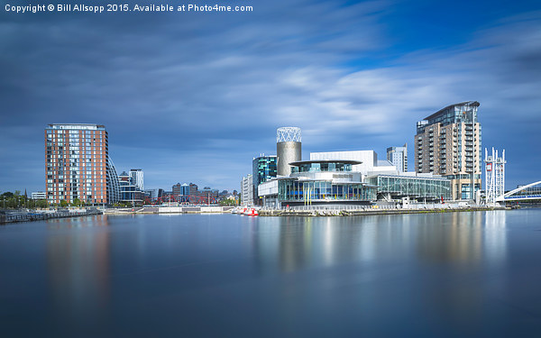 View of Salford Quays Canvas print by Bill Allsopp