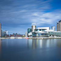 Buy canvas prints of  View of Salford Quays by Bill Allsopp