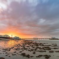 Buy canvas prints of Worthing Pier Sunrise  by Lee Milner