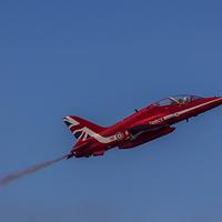 Buy canvas prints of  Red Arrows Hawk by Steve Morris