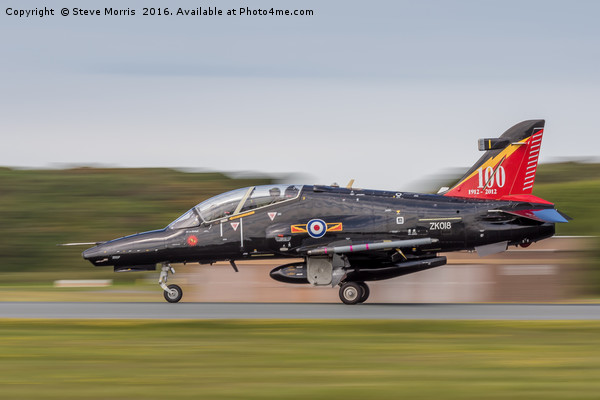 Centenary Hawk Touchdown Framed Print by Steve Morris