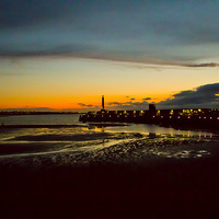 Buy canvas prints of  Margate Harbour at Sunset by Ernie Jordan