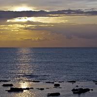 Buy canvas prints of  Calm Sunset at Westbrook,Kent. by Ernie Jordan
