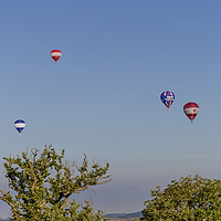 Buy canvas prints of Balloons at Bristol Balloon Fiesta. by Ernie Jordan