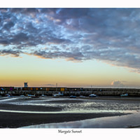 Buy canvas prints of Margate sunset by Ernie Jordan