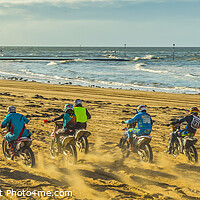 Buy canvas prints of Beach racing by Ernie Jordan