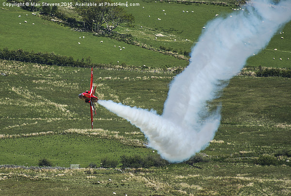 Red Arrows fast & low....smoke on... Canvas print by Max Stevens