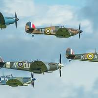 Buy canvas prints of  WWII spitfire formation by Max Stevens