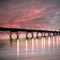 Buy canvas prints of  sea pier by Fox Images