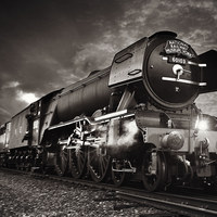 Buy canvas prints of The flying scotsman by Fox Images