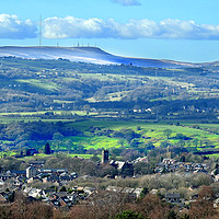 Buy canvas prints of Winter hill lancashire by Fox Images