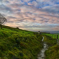 Buy canvas prints of Peel tower Ramsbottom by Fox Images
