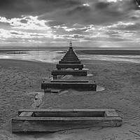Buy canvas prints of Crosby Beach Liverpool by Fox Images