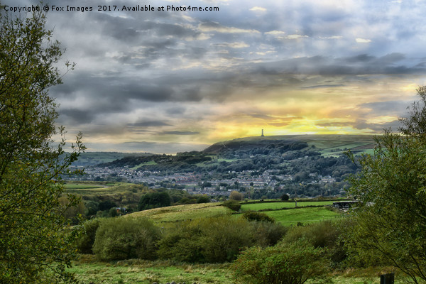 Peel tower Ramsbottom Canvas Print by Fox Images