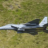Buy canvas prints of F15e Strike Eagle jet by Derrick Fox Lomax