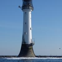 Buy canvas prints of  Bellrock lighthouse Arbroath in colour  by aidan dunbar