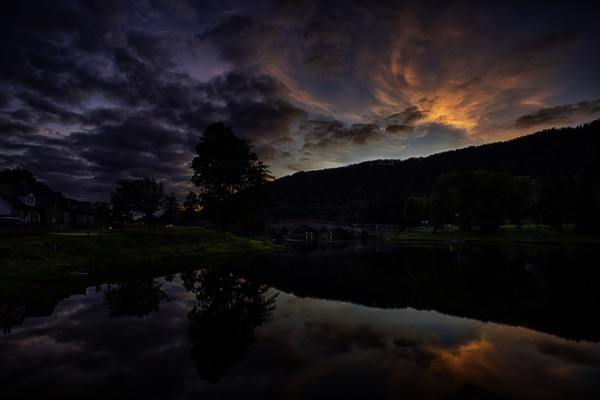 Taymouth, this is where Loch Tay becomes River Tay Canvas print by paul green
