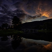 Buy canvas prints of Taymouth, this is where Loch Tay becomes River Tay by paul green