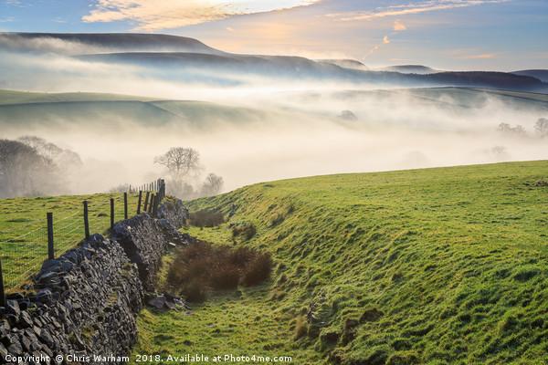 Derbyshire Peak District- MIsty morning Canvas print by Chris Warham